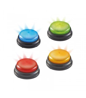 Pulsadores buzzers luminosos (4 unidades)