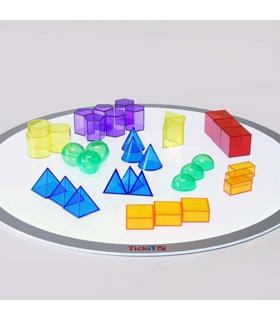 Set mini-bloques geométricos translúcidos